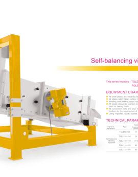 Self-balancing vibrating separator